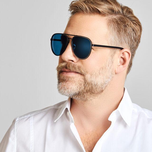 Haus Berlinger Sonnenbrille Herren Schwarz blau