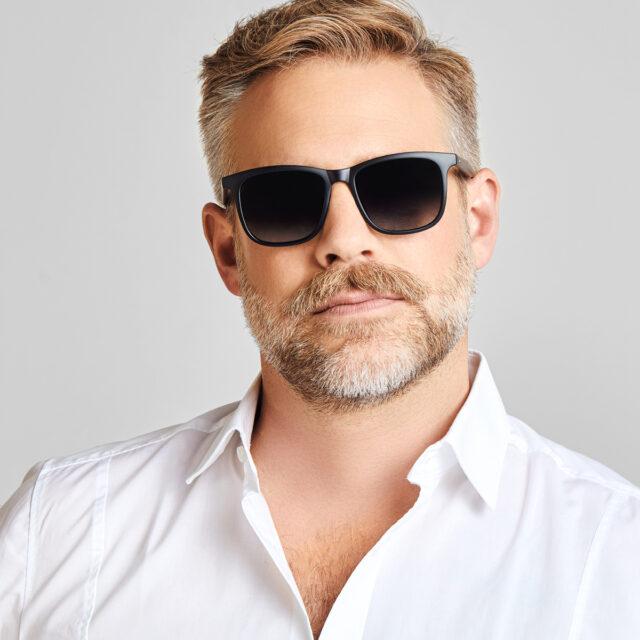 Haus Berlinger Herren Sonnenbrille schwarz