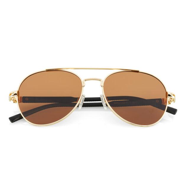 Haus Berlinger Pilotenbrille braun Gold Herren